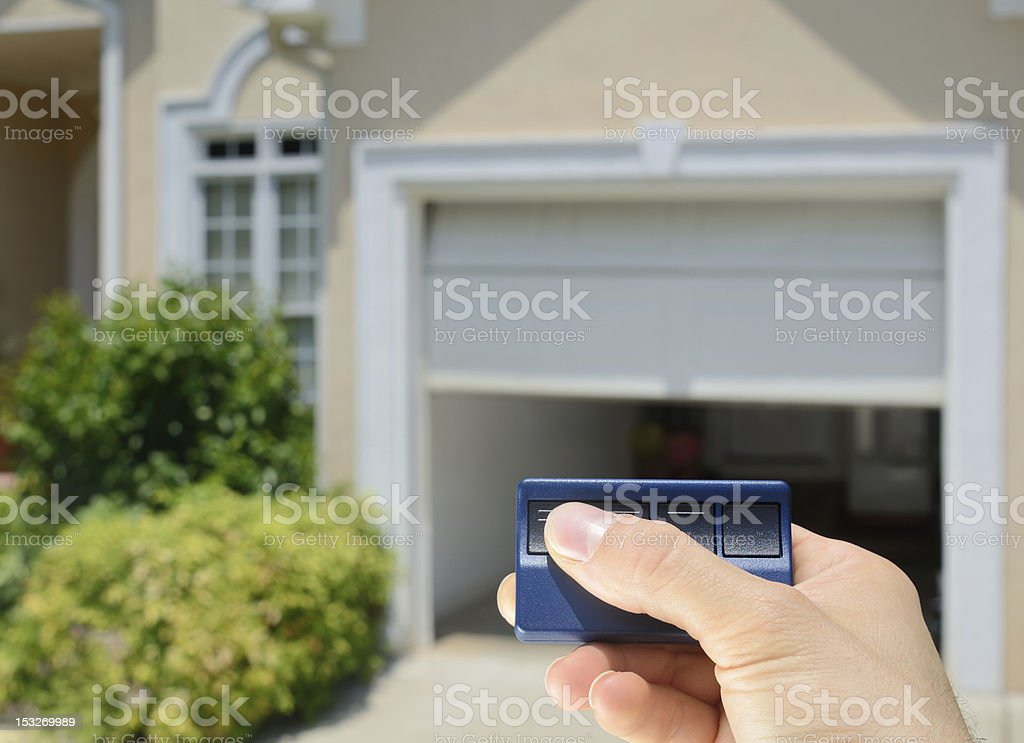 Garage Door Opener stock photo