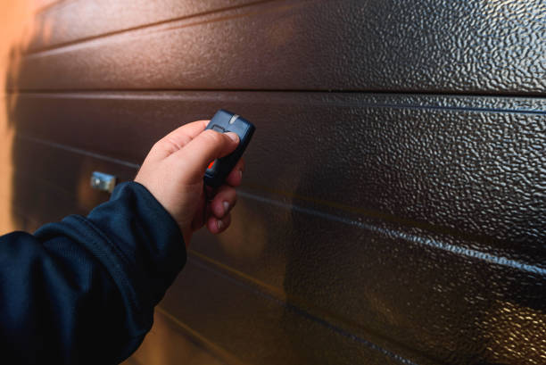 Garage door PVC stock photo
