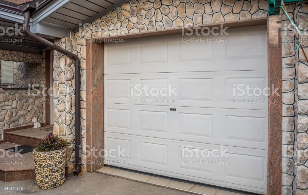 garage door pvc stock photo