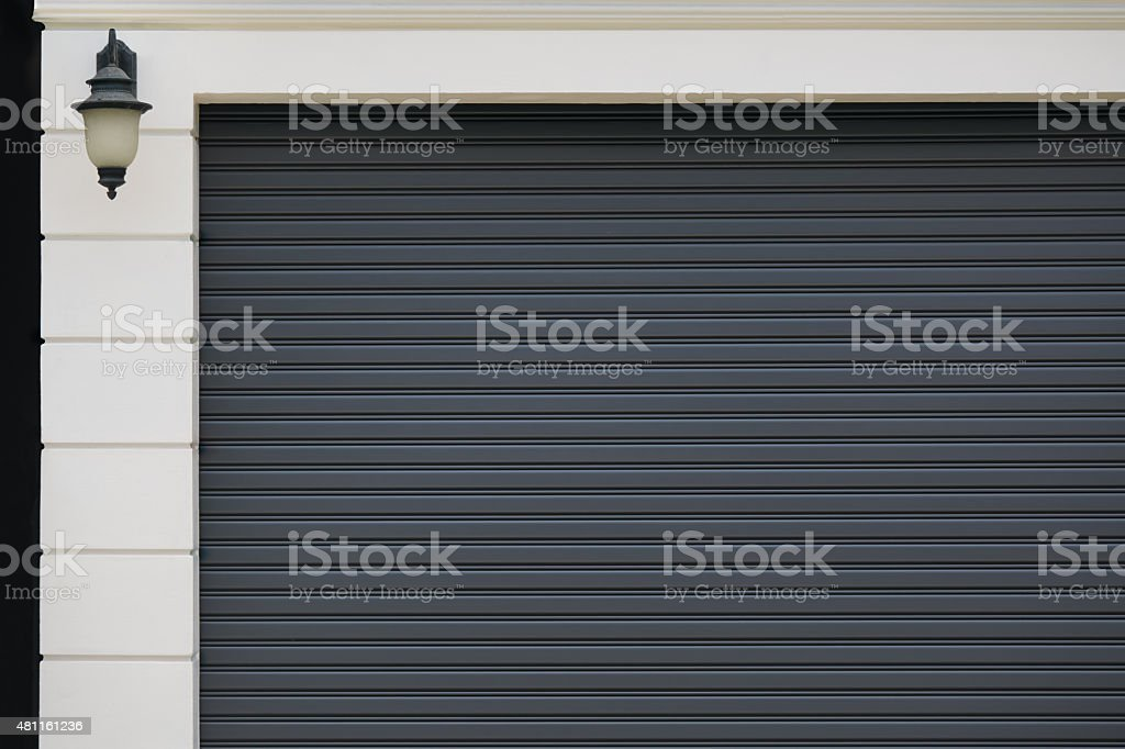 garage gate stock photo