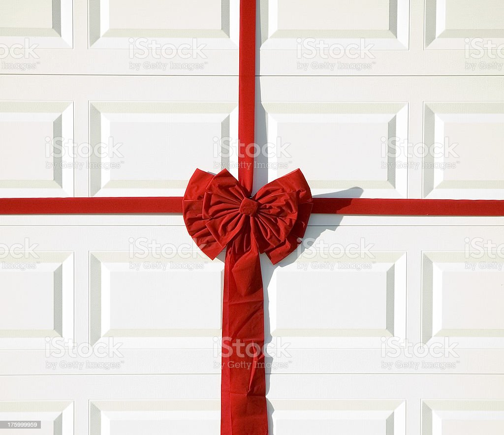 Garage Holiday Bow royalty-free stock photo