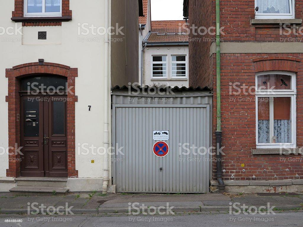 Garage in Rinteln stock photo