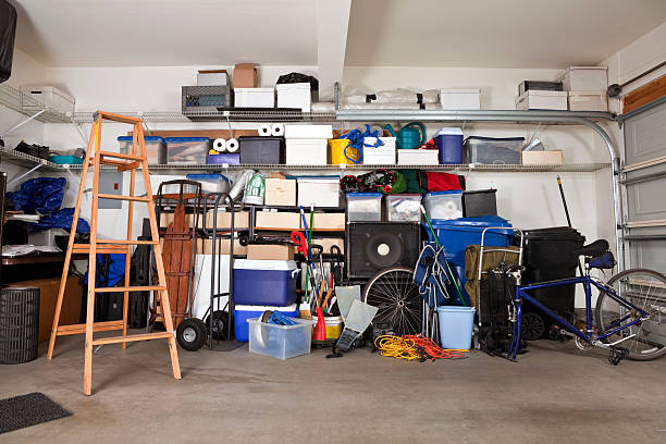 garage mess - full stock photos and pictures