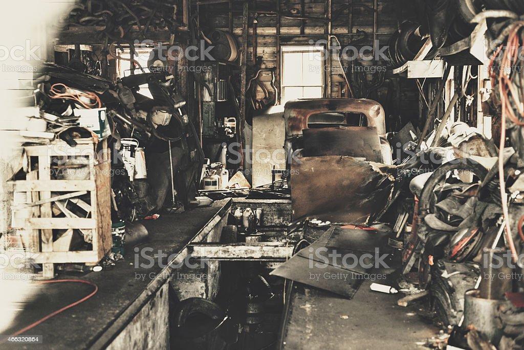 Garage der Vergangenheit Lizenzfreies stock-foto