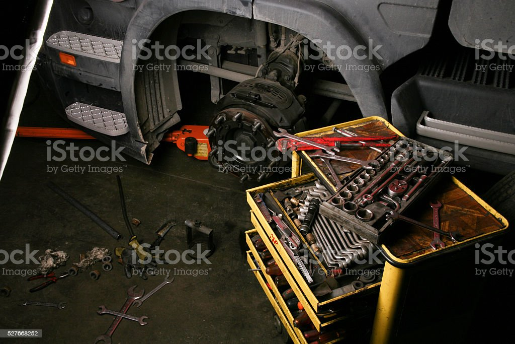 garage stock photo