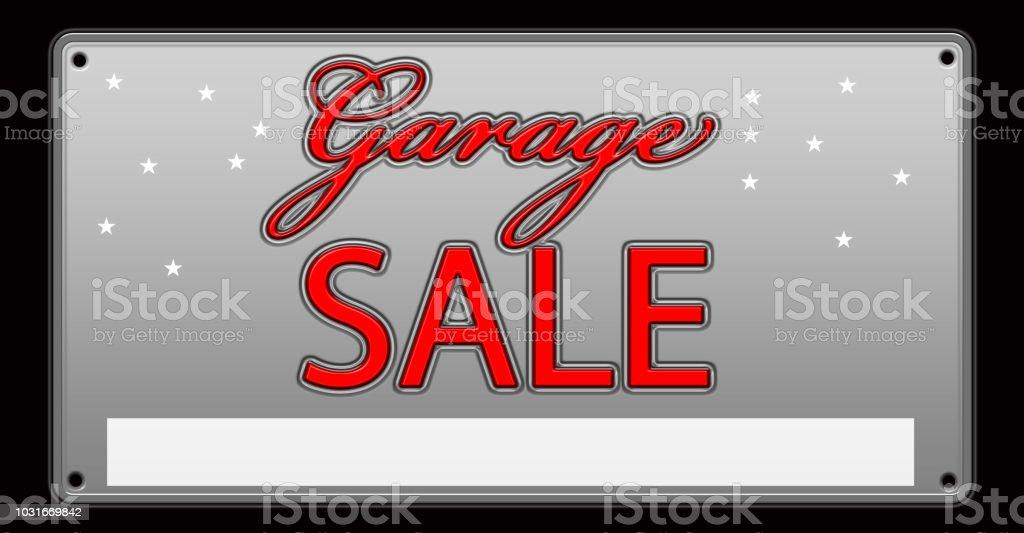 Garage sale License Plate illustration