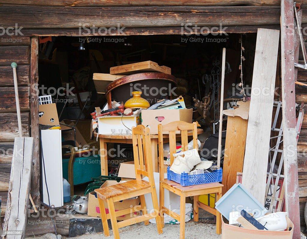 Garage sale. stock photo