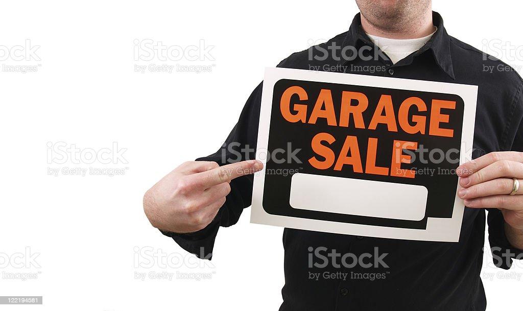 Garage Sale Sign royalty-free stock photo