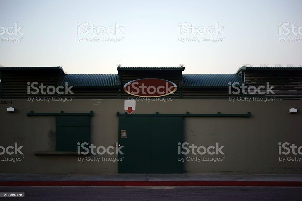 Garage Seaside stock photo