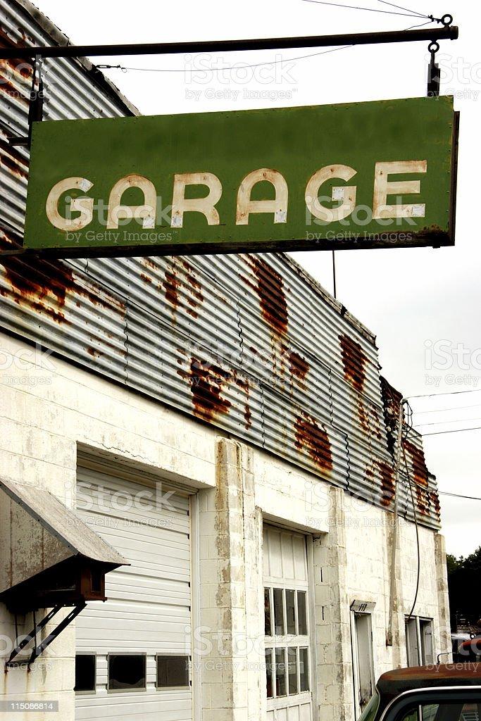 garage sign royalty-free stock photo