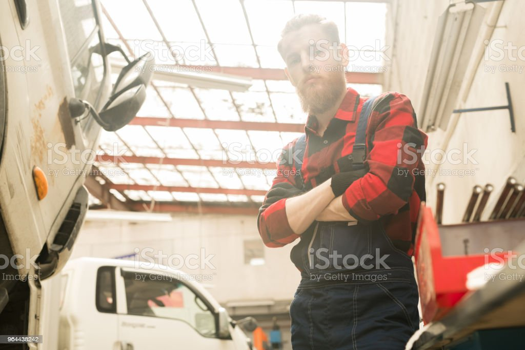 Garage technicus op het werk - Royalty-free Alleen volwassenen Stockfoto