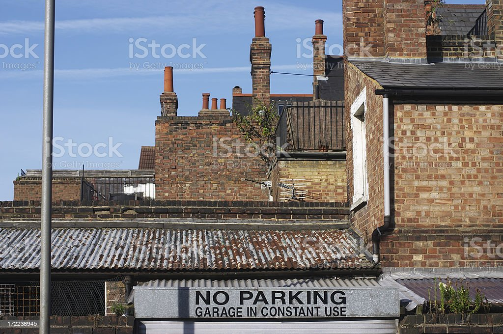 The rooftops of London stock photo