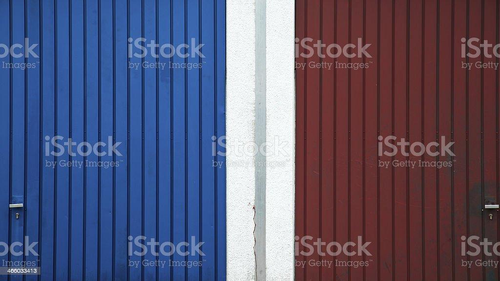 Garagentor zweifarbig stock photo