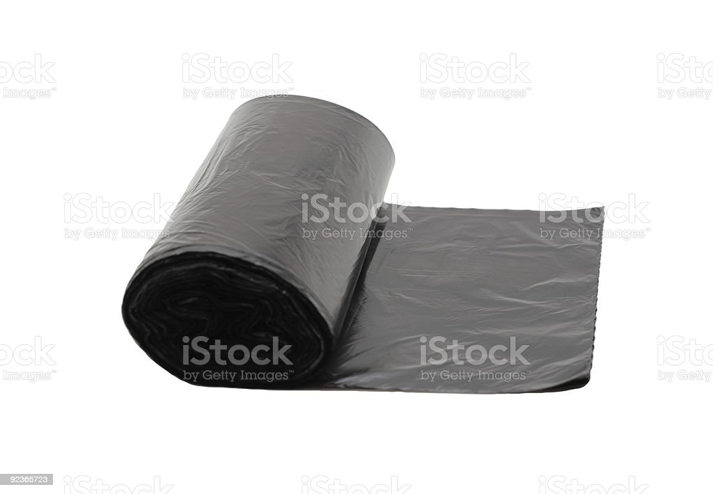 Garbage Bag, isolated royalty-free stock photo