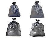 ゴミ袋に白背景