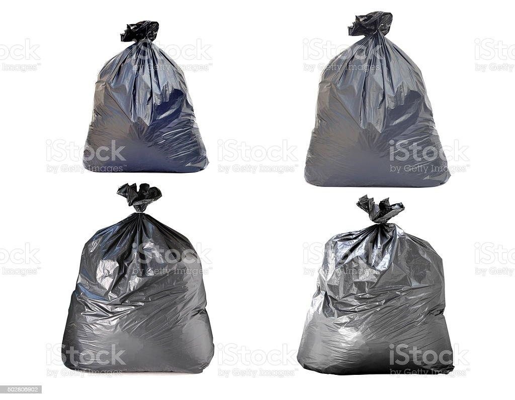 Bolsa de la basura sobre fondo blanco - foto de stock