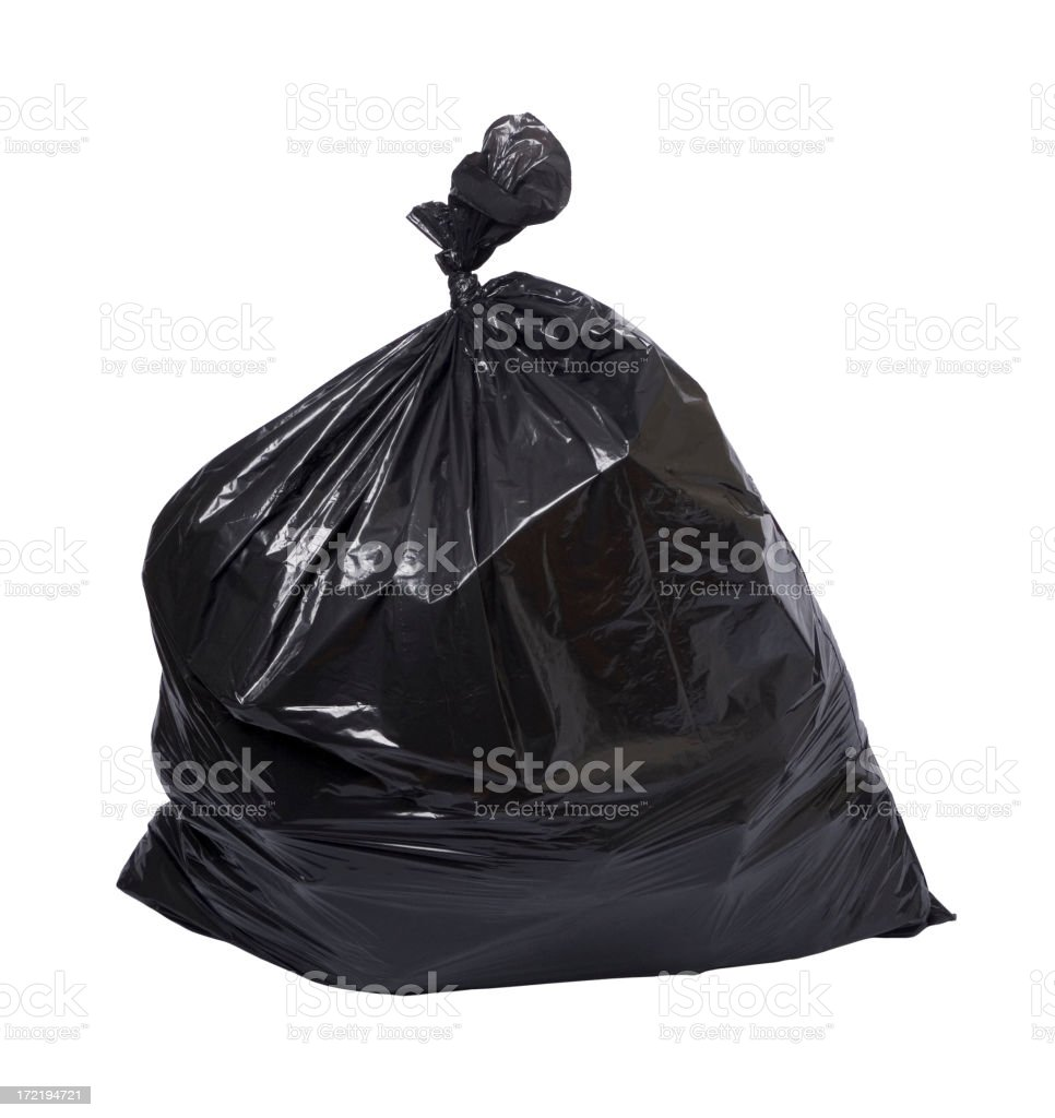 Garbage bag royalty-free stock photo