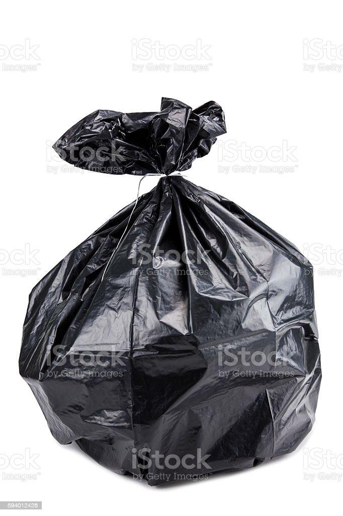 garbage bag stock photo