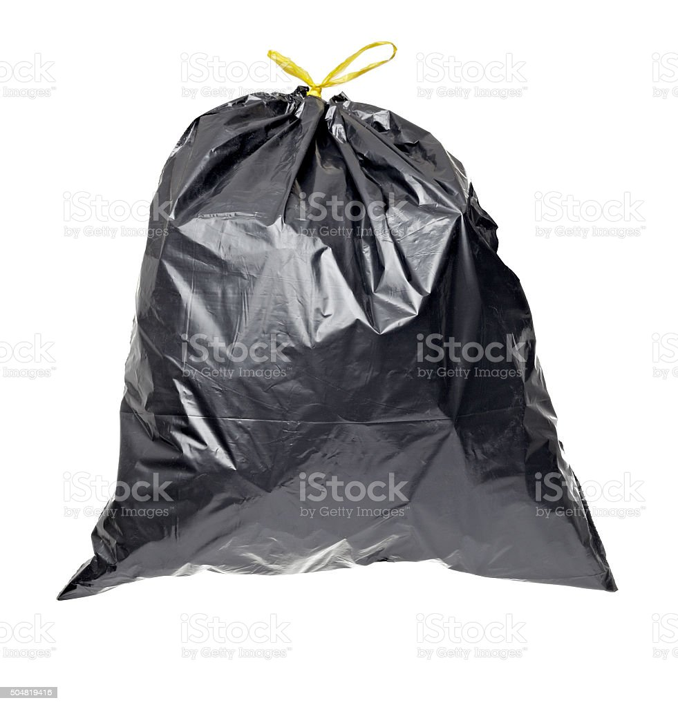 garbage bag trash waste stock photo