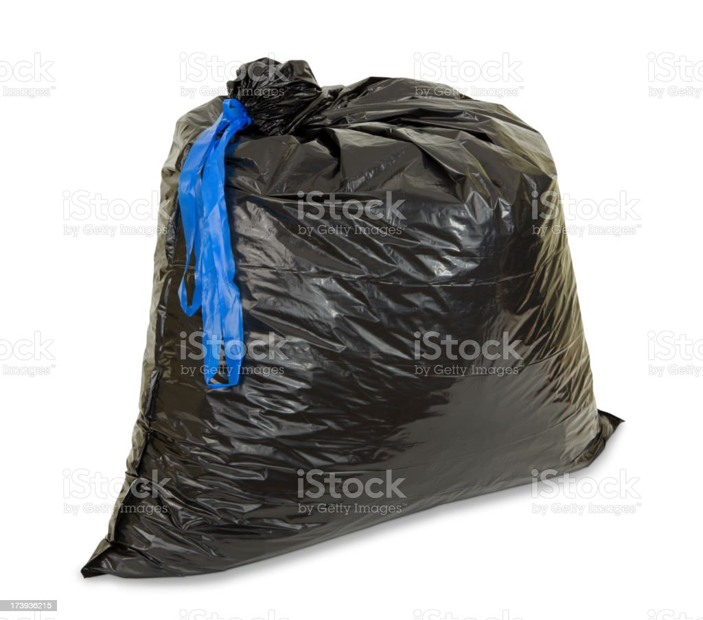 Garbage Bag with Path royalty-free stock photo