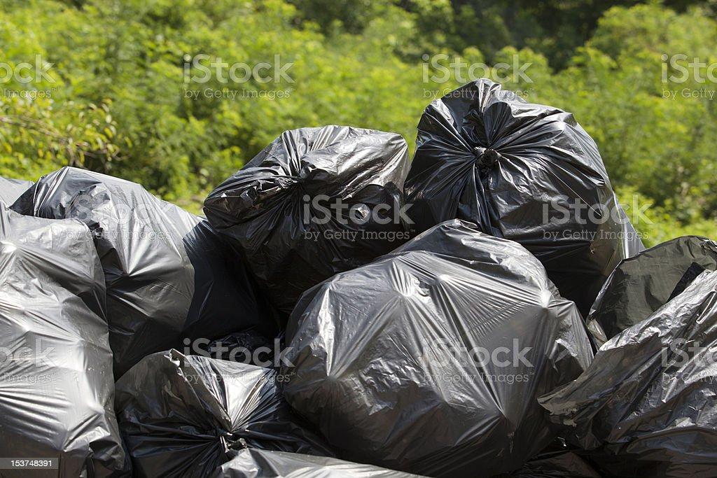 Garbage bags royalty-free stock photo