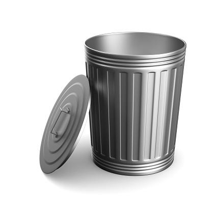 istock Garbage basket on white background. Isolated 3D illustration 847025870