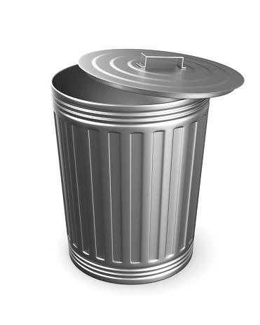 istock Garbage basket on white background. Isolated 3D illustration 872176896