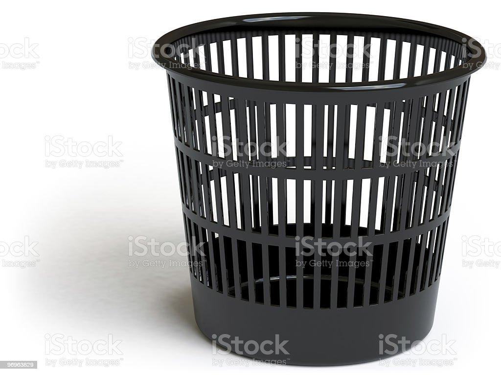 garbage basket royalty-free stock photo