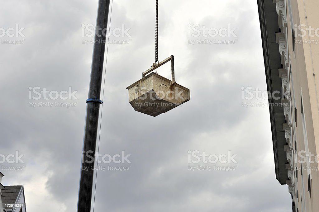 Garbage Bin Container On Crane royalty-free stock photo