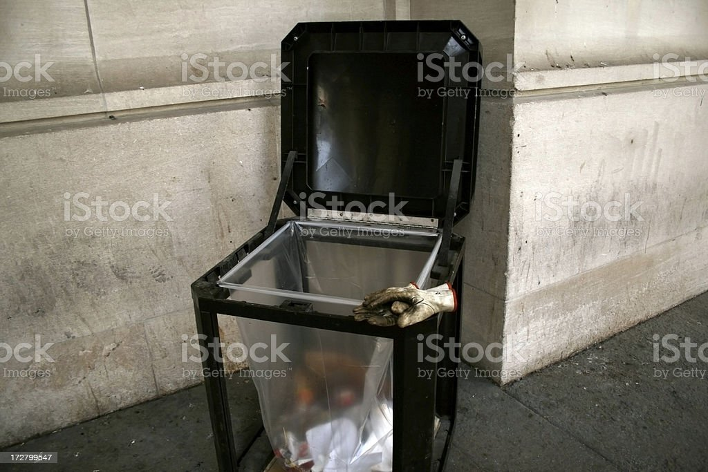 garbage bin stock photo