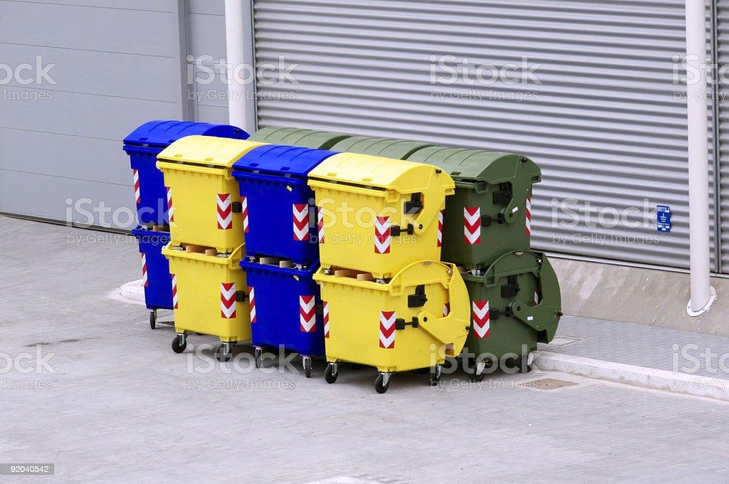 Müllbehälter - Lizenzfrei Behälter Stock-Foto