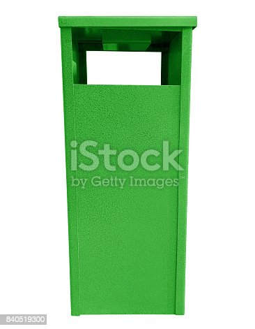 istock Garbage can - green 840519300