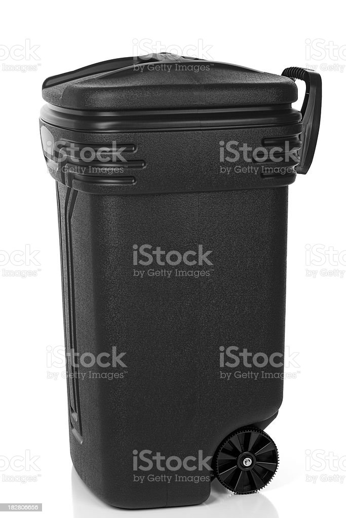 Garbage Can Isolated royalty-free stock photo