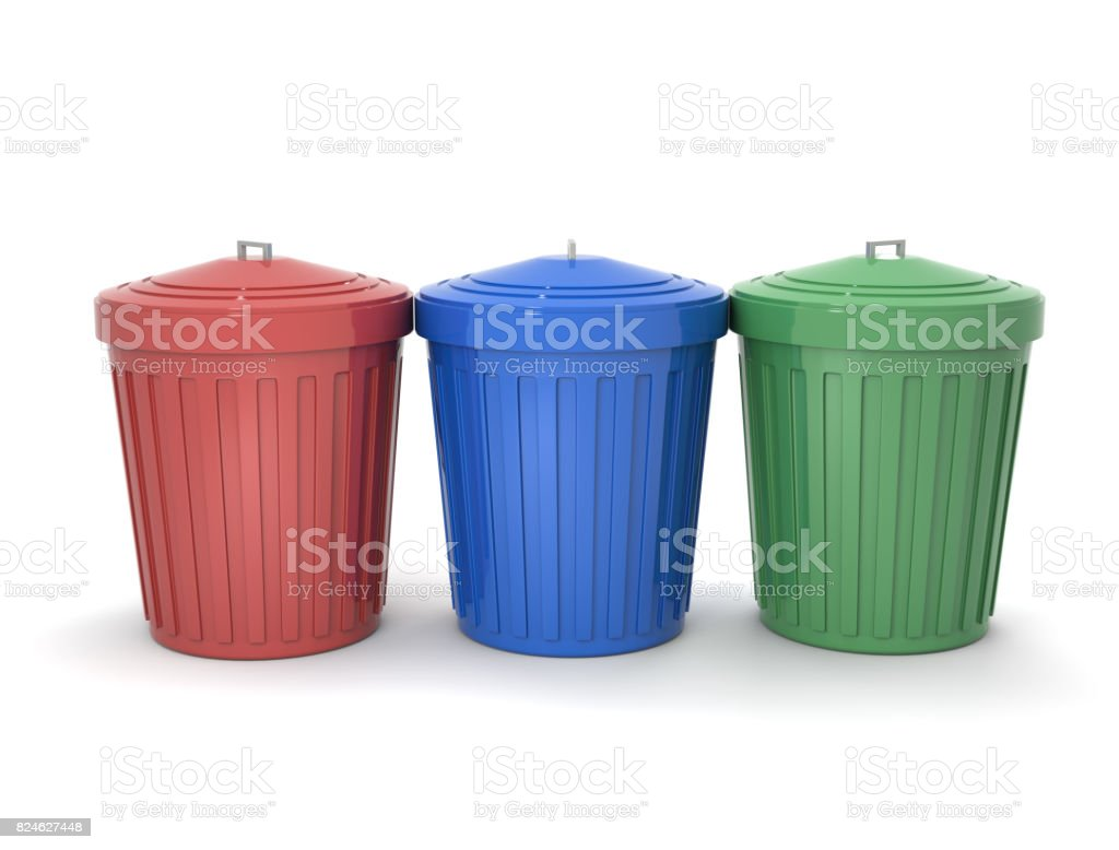Garbage can stock photo