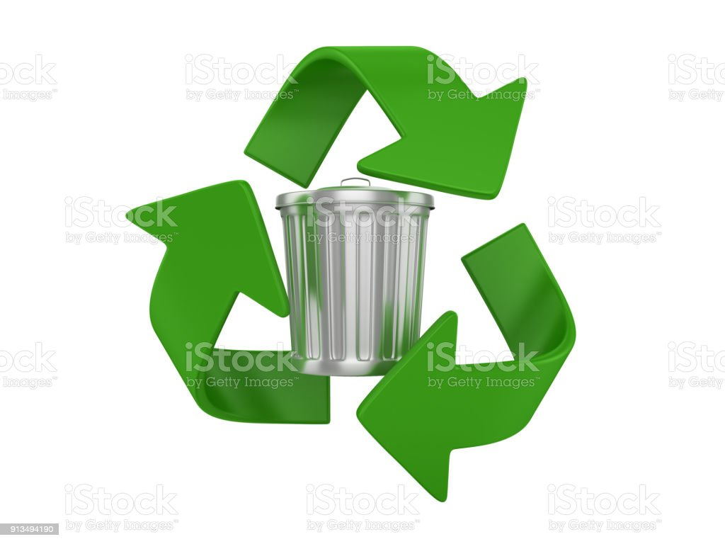 Garbage can with recycling symbol 3d rendering stock photo more garbage can with recycling symbol 3d rendering royalty free stock photo biocorpaavc Gallery