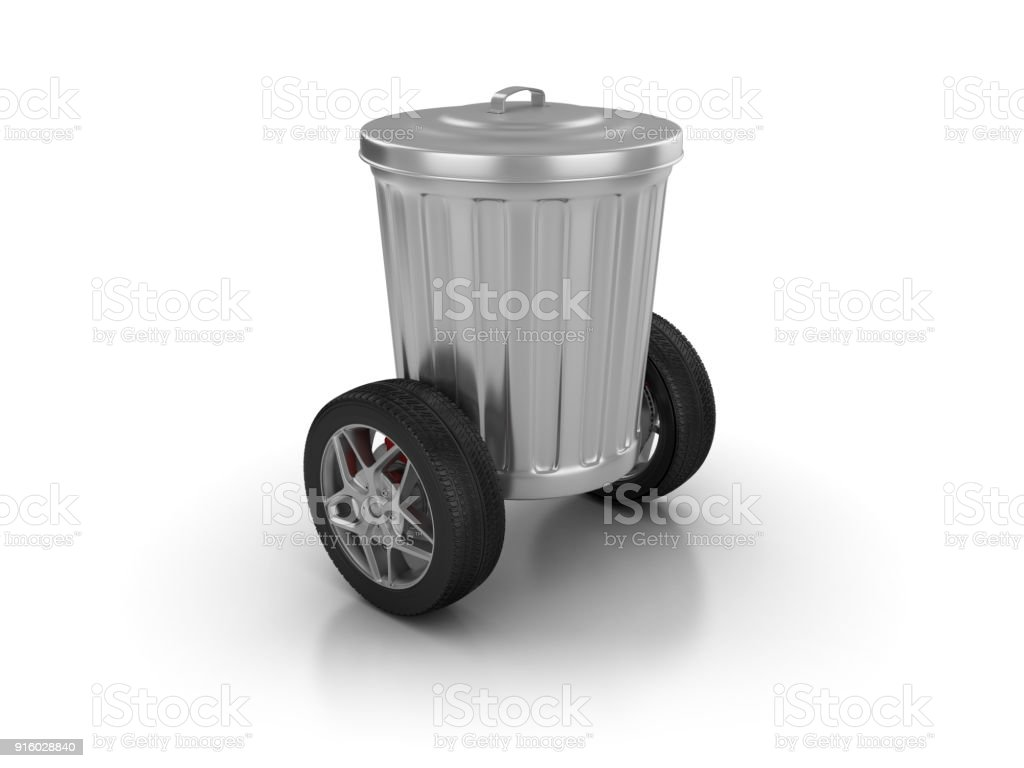 Garbage Can With Wheels 3d Rendering Stock Photo Download Image Now Istock