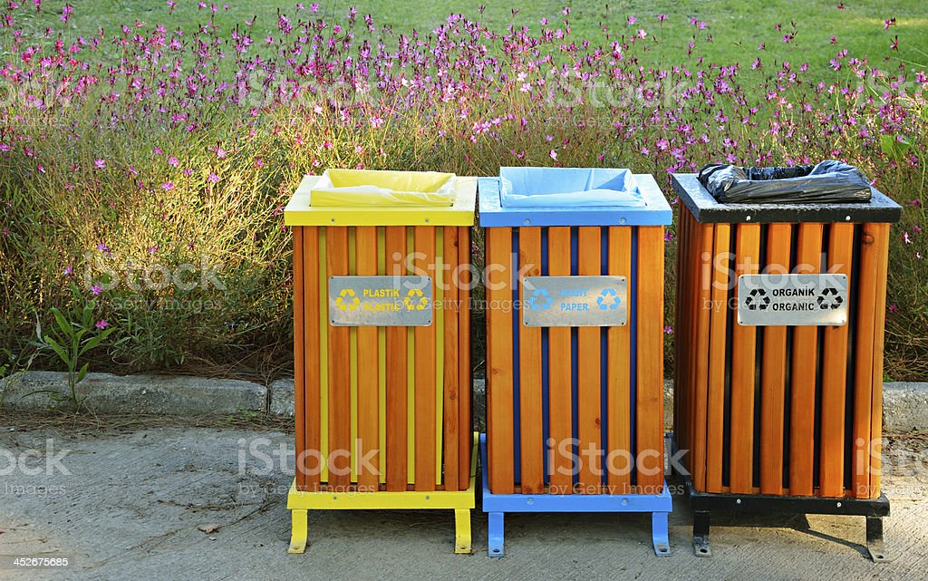 Garbage Cans stock photo