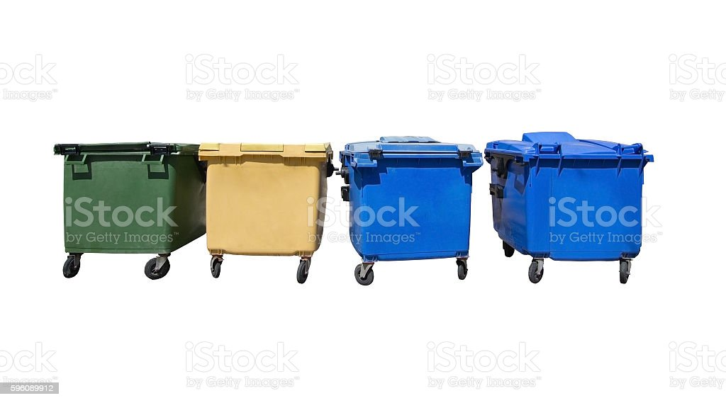 Garbage collected in assorted boxes royalty-free stock photo