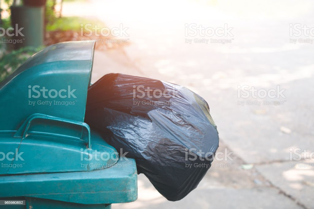 Garbage collection cleaning bin. - Royalty-free Assistance Stock Photo