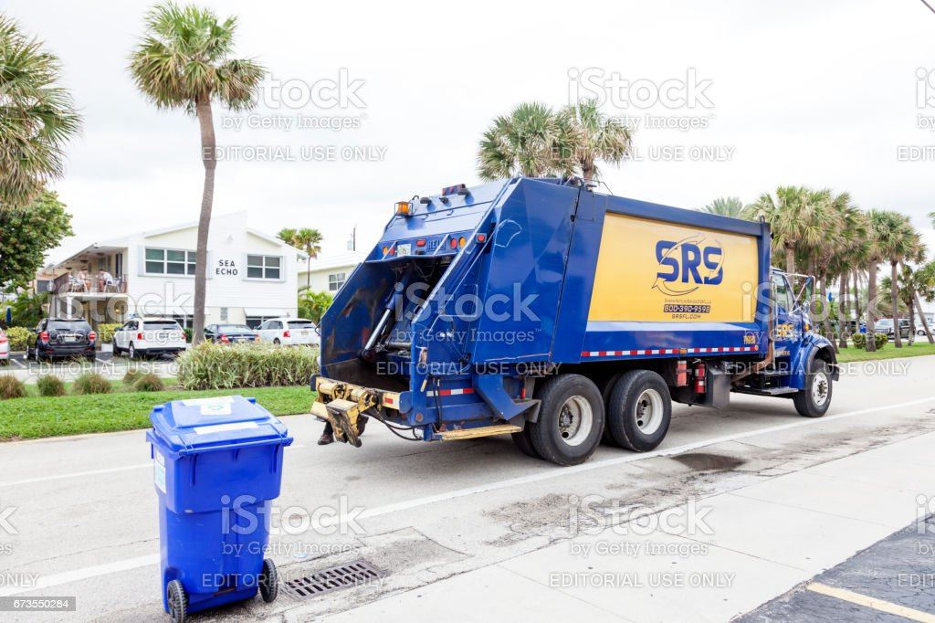 Garbage collection truck royalty-free stock photo
