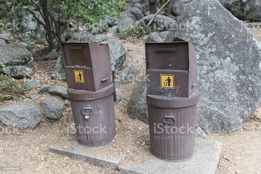Garbage Container Bear Proof stock photo