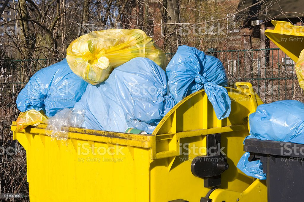 Garbage container royalty-free stock photo