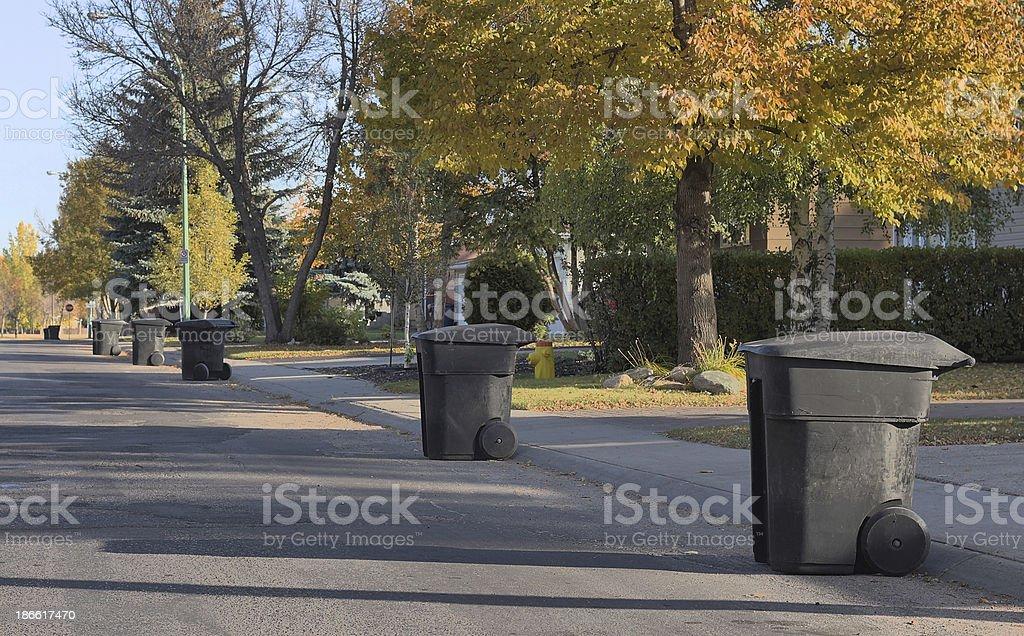 Garbage Day stock photo