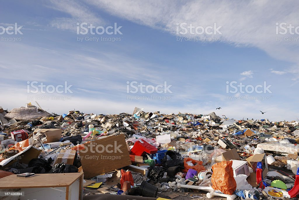 Garbage Dump in Canada's Arctic City Yellowknife. royalty-free stock photo