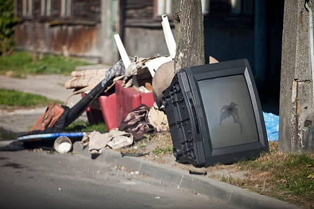 Müllkippe in der Straße – Foto