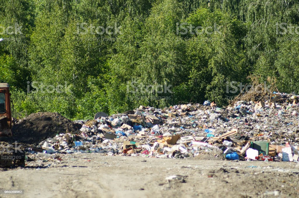 Garbage dump, landfill waste royalty-free stock photo