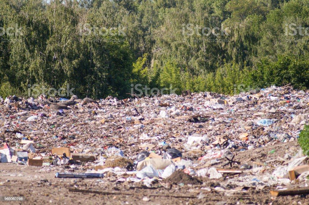 Garbage dump, landfill waste zbiór zdjęć royalty-free