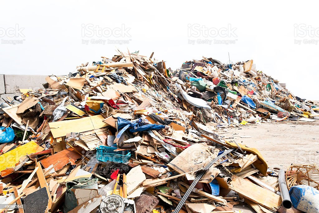 Müllkippe von Wohlstand – Foto