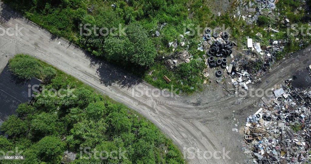Garbage Dump stock photo