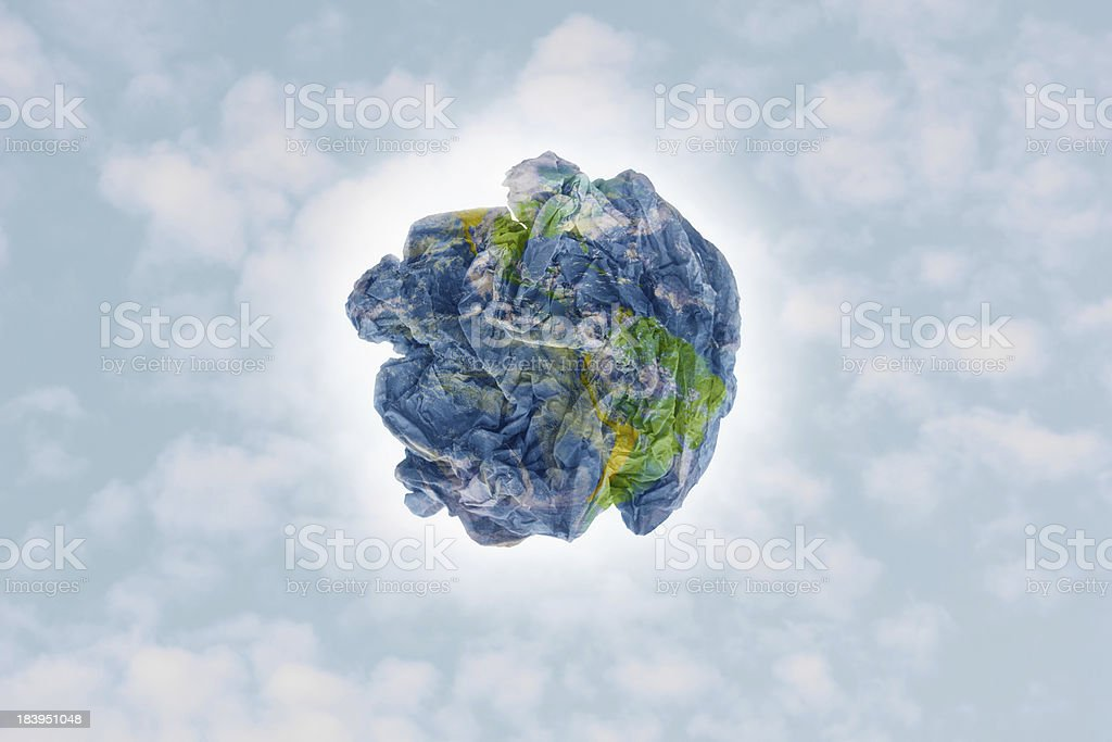 Garbage Earth royalty-free stock photo